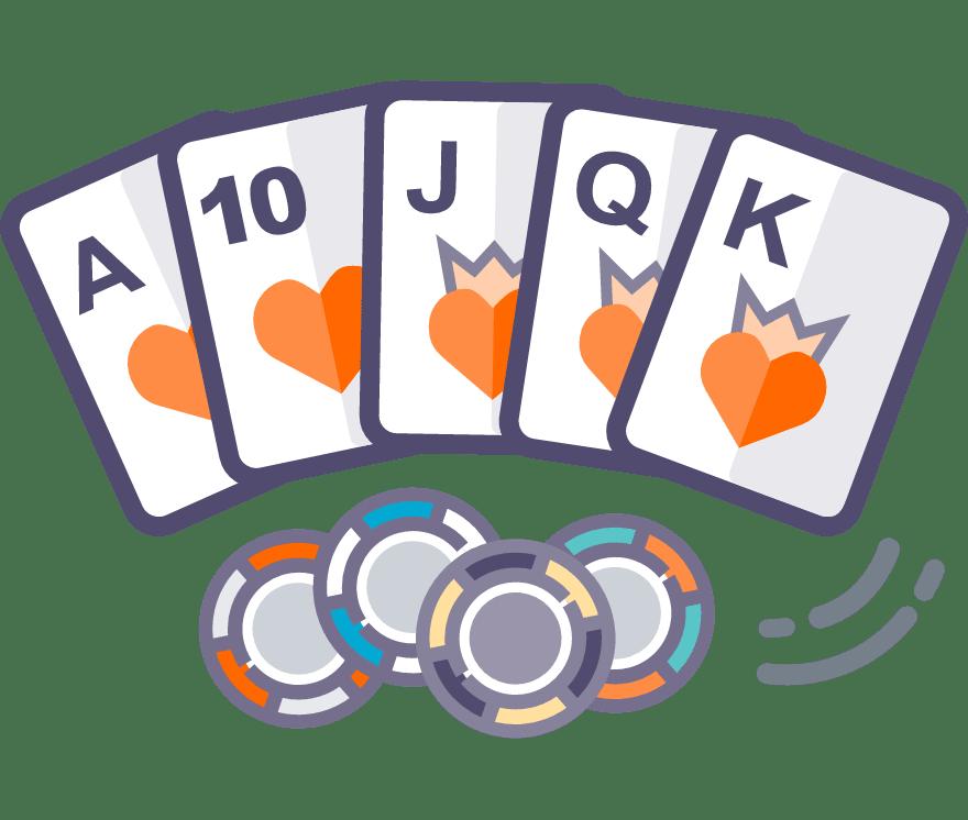 30 parimat New Casinot, mille mängude hulgas on 2021. aastal Texas Holdem